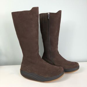 MBT Brown Suede Tall Tambo Boot Size 9